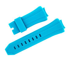 New baby blue Silicone Rubber Watch Band Strap For TECHNOMARINE