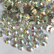 2000Pcs 4mm Flatback Crystal AB 14 Facets Resin Round Rhinestone Beads Striking