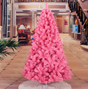3-4ft 5ft 6ft 7ft Christmas Tree Undecorated Pink Purple Blue Gold Silver Black