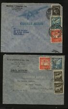 Chile 2 large airmail covers Ms0829