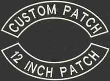 """Set of 2 Embroidered Rockers 12"""" x 2"""" Patches, Iron On or Sew On"""