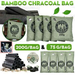 8 Air Purifying Bag Purifier Nature Fresh Charcoal Bamboo Mold Freshener Bags US