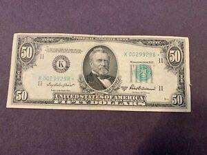 1950B $50.00 Star Note Dallas FR