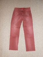 20 188/3 S.OLIVER Damen 3/4 Jeans Hose Gr. 34 rotviolett Jeanshose used Optik