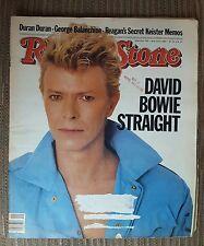 David Bowie Straight Duran Duran Rolling Stone magazine #395 May 12, 1983