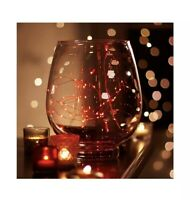 Apothecary & Co: 62 LED Light String, Battery-Powered, Timer: 10 Ft, Red