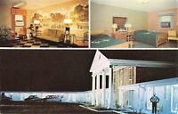 Richland Georgia~Kay Lyn Kourt @ Night~Window Air Conditioning~1950s Postcard