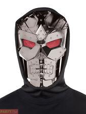 Adults Dark Robot Hooded Mask Teen Halloween Fancy Dress Costume Accessory