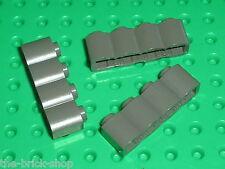 3 x LEGO NINJA OldDkGray brick log ref 30137 / Set 6045 & 6088