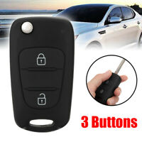 Fit for Kia Picanto 3 Buttons Key FOB Remote Case Shell with CR2032 Battery Car