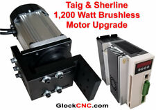 1,200 Watt Sherline or Taig Lathe Mill Brushless Spindle Motor Upgrade