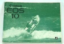 GENUINE CANON EOS 10 FILM CAMERA INSTRUCTION MANUAL!! VERY GOOD CONDITION!!