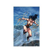 JIM LEE rare TRINITY: WONDER WOMAN paper giclee DC Comics WB art COA!!