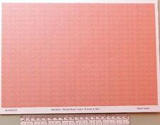 N gauge (1:160) scale) red brick paper - A4 sheet