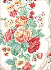 $1 SAMPLE Reproduction Wallpaper: Victorian, Rococo Revival Floral 1850-1860 era