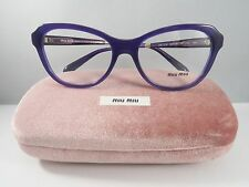 Miu Miu VMU 01N TFI-1O1 Purple on Havana New Authentic Eyeglasses 52mm w/Case
