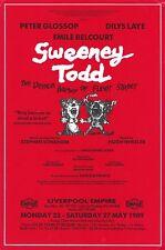 "Sondheim's ""SWEENEY TODD"" Peter Glossop / Dilys Laye 1989 Liverpool Flyer"