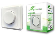 greenandco LED Lampen Dimmer 1-200 W stufenloser Unterputz Helligkeitsregler