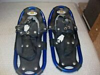 "Atlas Snow Shoe Company Junior/Youth Blue & Black 16""x7"" Aluminum Snowshoes"