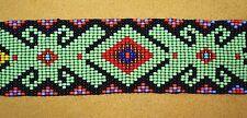 Glass Seed Bead South American Loom Work Ceremonial Bracelet, Colombian Beadwork