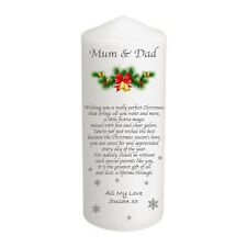 Personalised Christmas Candle Stocking Gift, Friend, Grandparents, Godparents