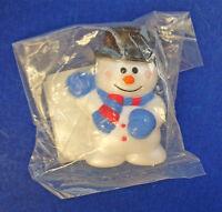 Russ PIN Christmas Vintage SNOWMAN MITTENS BlLUE Top Hat Holiday Brooch MIP