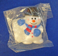 Buy1&Get1@50%~Russ Pin Christmas Mip Snowman w Blue Mittens Top Hat Vtg Brooch