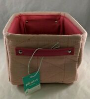 Quilted Storage Bin Basket Box Pink Handles Soft Sided Organization Pillowfort