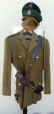 Vintage British Adjutant General Corps Army Officers Uniform Hat Sam Brown Belt