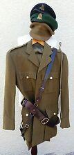 Vintage British Adjutant General Corps Army Officers Uniform Hat Sam Brown Belt
