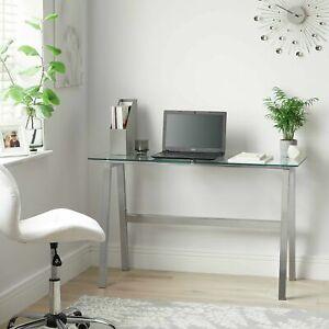 Home Mirano Office Desk - Clear Glass