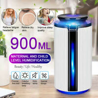 900ML Air Humidifier Aroma Essential Oil Diffuser Aromatherapy Atomizer 7 LED
