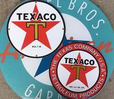 TEXACO 1936 LOGO - TEXACO PETROLEUM porcelain coated 18 GAUGE steel signs