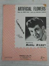 Sheet Music - Artificial Flowers - Bobby Darin 1960 *Rare*