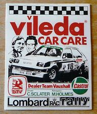 Vileda Dealer Team Vauxhall Chevette Rally Motorsport Sticker / Decal