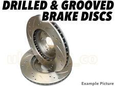 Drilled & Grooved FRONT Brake Discs For NISSAN LAUREL (JC32) 2.8 D 1985-87