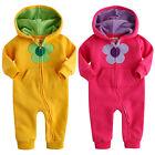 """Vaenait BabYGirls Fleece Hoodie Jumpsuit Onepiece """"Fragrance Flower"""" 6-24M"""