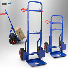BITUXX® Sackkarre Transportkarre Stapelkarre mit Luftbereifung klappbar 200kg