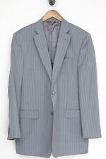 Saks Fifth Avenue Mens Suit 46L 38x32 Gray Pinstripe Zegna Wool Jacket Pants