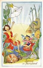 SUNRISE IN FAIRYLAND  Children FANTASY  L R STEELE  Postcard