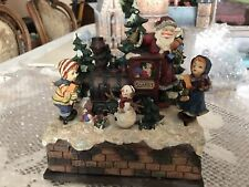 Carillon Natale Resina con Melodia e movimenti dei personaggi 16x10x18 cm regalo
