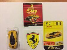 "DIE CAST FERRARI MICRO CARS "" LAFERRARI - 2013 "" USCITA N° 7 SCALA 1/100 KYOSHO"
