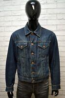 Giacca Blu Jeans Uomo DIESEL Taglia L Giubbotto Giubbino Jacket Man Blu Casual