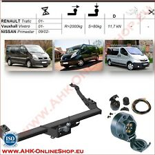 Gancio traino fisso Nissan Primastar 2001- + kit elettrico 7-poli OMOLOGAZIONE