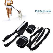 Hands Bungee Canicross Dog Lead Reflective Running Adjustable Leash Belt