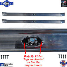 68-72 A-Body Door Rocker Sill Scuff Trim Plate RIVETED Tags Crisp Stamping USA