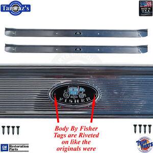 68-72 A-Body Door Rocker Sill Scuff Trim Plate RIVETED Tags Crisp Stamping USA