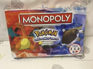 NEW PARTLY SEALED POKEMON MONOPOLY BOARD GAME RARE KANTO EDITION