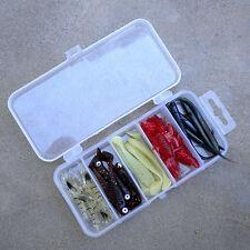 Plastic Fishing Lure Bait Box Storage Organizer Container Case Transparent Box