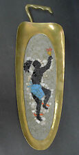 Salvador Teran Brass Tray with Dancer Mid Century Modern Mexico